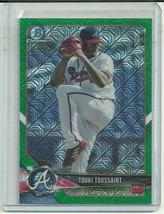 2018 BOWMAN CHROME MEGA BOX GREEN BCP11 TOUKI TOUSSAINT RC 47/99 BRAVES ⚾️ - $4.74