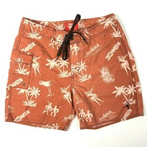 Toes On The Nose Tiki Drinks Hula Girls Board Shorts 29 True Fit Swim Tr... - $35.68