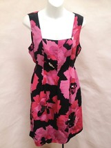 Nine West 10 Dress Multi Color Floral Silk Sheath Sleeveless New - $27.42
