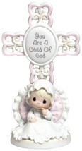 Precious Moments, You Are A Child Of God, Bisque Porcelain Cross, Girl, ... - $47.92