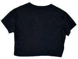 Missguided Women's Navy Blue Short Sleeve Crop Top T-Shirt Size 4 image 2