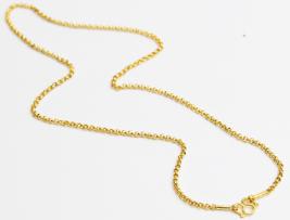 "22K 22kt gold rolo kid babychain / necklace handmade from Thailand 12""  #b1 - $237.60"