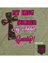 "Cherished Girl By Kerusso T-Shirt: ""My King Protects My Soldier"" S, XL, ... - $9.99"