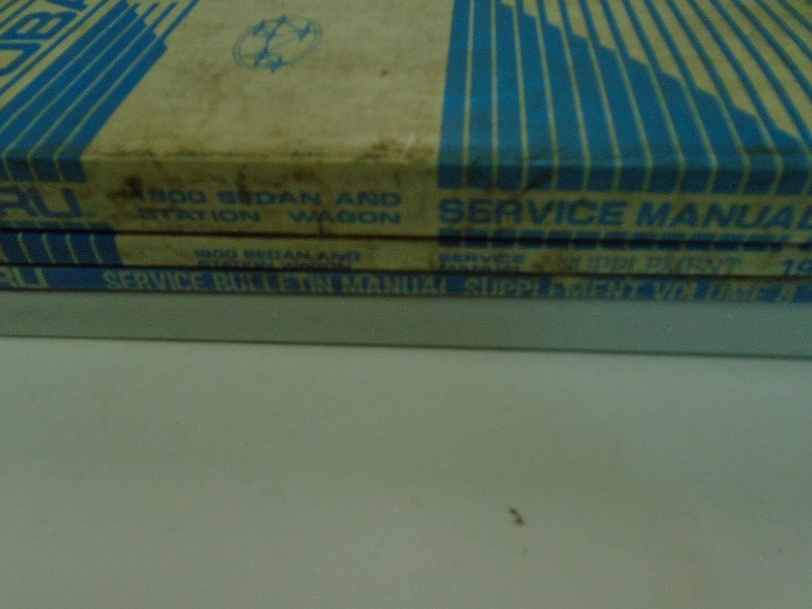 1985 Subaru 1800 Sedan Station Wagon Service Repair Manual Set Incomplete OEM