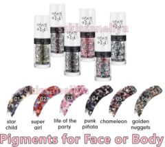 ESSENCE Get Your Glitter On! 6 Loose Different Glitter Pigments for Body... - $10.19