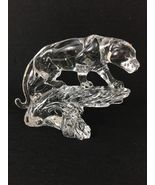 Princess House, German Made 24% Lead Crystal Jaguar Figure - $49.00