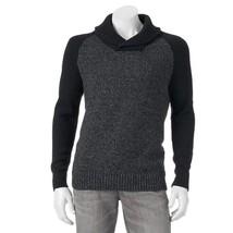 Men's Apt. 9 Colorblock Shawl-Collar Sweater Size XXL 2XL Charcoal Grey ... - $46.50