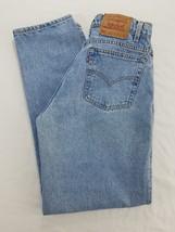 Men's Jeans Vtg Levi's 32x32 Blue Denim Loose Fit Tapered Leg Made USA - $618,23 MXN