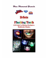 2-Flashing Teeth LED Light Up Blinking Mouthpiece, Flashes Multi color U... - $9.95