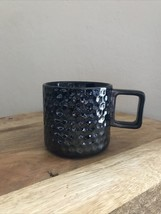 2019 Starbucks Black Gunmetal Ceramic Honeycomb Mug Preowned 12oz - $15.79