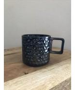 2019 Starbucks Black Gunmetal Ceramic Honeycomb Mug Preowned 12oz - $15.79