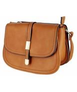 Alyssa Collection Women's Fashion Saddle Bag Cross Body Purse Handbag - $26.99