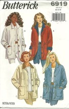 Butterick Sewing Pattern 6919 Misses Womens Jac... - $12.99
