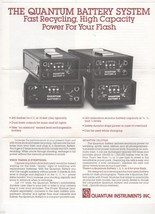 Quantum Battery System Brochure - $3.00