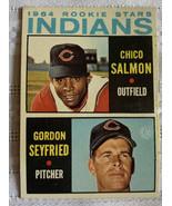 Topps 1964 Chico Salmon & Gordon Seyfried Rookie Stars #499 Baseball Card - $10.39