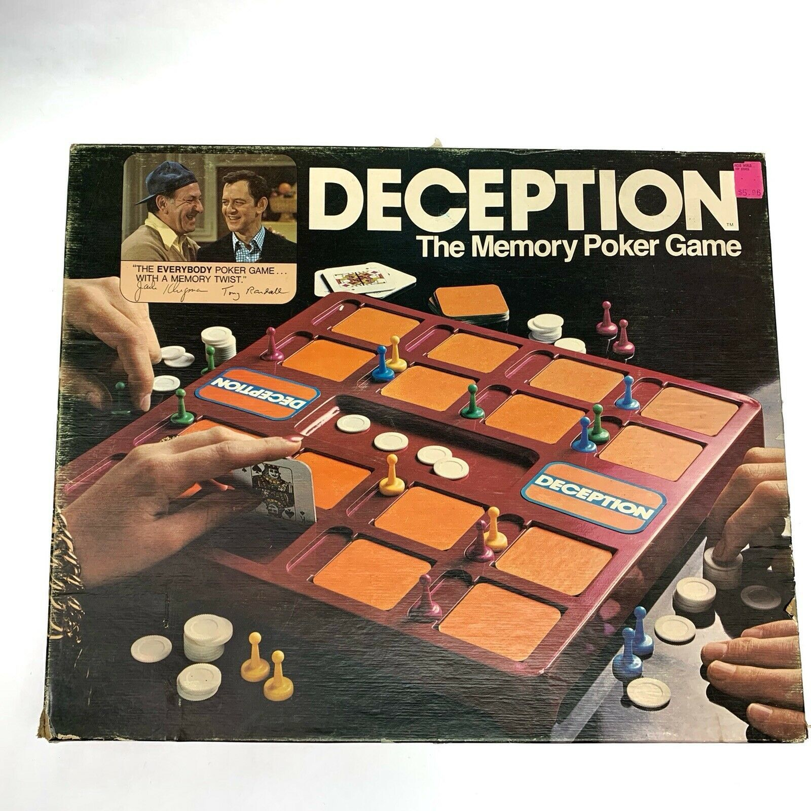 Vintage Deception Memory Poker Board Game 1975 Lowe Milton Bradley USA
