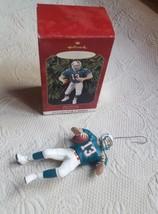 "5"" Hallmark Football Legends Ornament Dan Marino,1999, pre-owned sports ... - $18.69"
