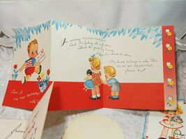 5 Old Vintage Be My Valentine Cards - Great Asst And Color, Check Out The Photos image 3