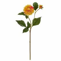 """Modern Gold Yellow 19? Dahlia Artificial Flower (Set of 6) - 19"""" - $85.32"""