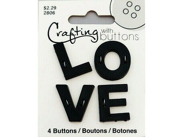 "Blumenthal Buttons, ""LOVE"", Set of 4 #470002806"