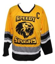 Speedy Singhs Breakaway Movie Hockey Jersey New Yellow Singh #13 Any Size image 4