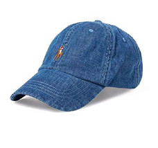 029c0d7e5207c2 Ralph Lauren Denim Baseball Cap Blue Backstrap Adjustable - $32.98
