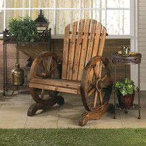 rustic wood country WAGON WHEEL outdoor terrace patio furniture ADIRONDA... - $142.71