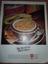 Campbell's Soup Beef Noodle Soup Print Magazine Ad 1967  image 1