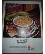 Campbell's Soup Beef Noodle Soup Print Magazine Ad 1967  - $4.99