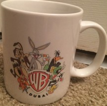 1996 Vintage Warner Brothers Dubai Coffee Mug Bugs Bunny Daffy Duck Loon... - $23.36
