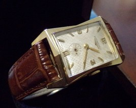50's Era Vintage Longines Gold Filled Tank Watch Runs Smooth+ Spare Move... - $895.00