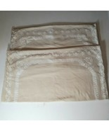 Martha Stewart Shams 2 Pillow Covers Beige Taupe 100% Cotton Square - $21.78
