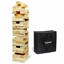 Get Out! Giant Tumbling Blocks 60pc Block Set 2.5ft 30in Large Kid & Adu... - $97.49