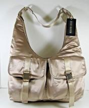 Steve Madden NWT $98 Cole Champagne Large Hobo Bag Shoulder Zip Close Po... - $38.81