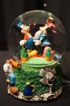Disney Mickey Minnie While Strolling in the Park One Day by Enesco Snowg... - $49.99