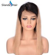 Silanda Hair Good Quality  #1B-27 Straight Remy Human Hair Lace Frontal ... - $97.50+