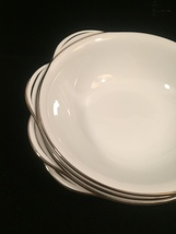 4 Noritake Colony pattern 5932 Lugged cereal bowls - Vintage 50s with platinum