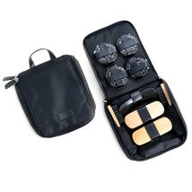 Bey Berk Shoe Shine Kit in Black Ballistic Nylon Zippered Case - $40.45