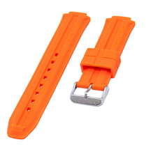 Nautica Men's N14674G | A14674G NST 700 Chrono Orange Rubber Watch Band - $31.46 CAD