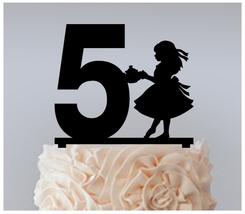 5th Birthday Anniversary Cake topper,Cupcake topper,Alice In Wonderland : 11 pcs - $20.00
