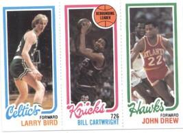1980-81 Topps #94 Larry Bird/Bill Cartwright/ John Drew TL  - Boston Celtics CON - $88.88