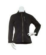 Calvin Klein Women's Long Sleeve Zipper Front Black Jacket Size Small - $32.43