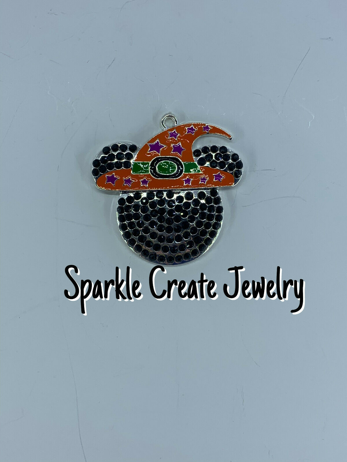 Minnie Mouse Halloween Witch Rhinestone Pendant