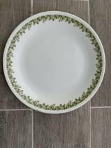"10 1/4"" Corning Corelle Spring Blossom Dinner Plate Green Flowers Crazy Daisy - $8.00"