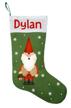 Gnome Christmas Stocking - Personalized and Hand Made Gnome Tomte Stocking - $29.99