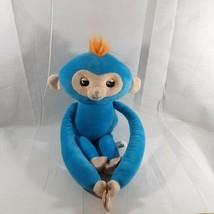 2018 WowWee Fingerlings Blue Boris HUGS Interactive Plush Monkey - $18.69