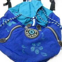 Vintage 90's Kipling Private Transport Rucksack Backpack Blue Hawaiian T... - $49.45