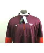 Nike Mens Virginia Tech Hokies Sideline Therma 1/2 Zip Pullover Maroon O... - $50.99