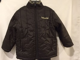 NWOT-Timberland Kid's Puffy Brown Full Zip Warm Coat-Size 3t - $13.50