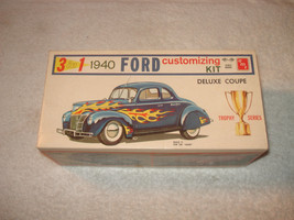 VINTAGE 1960 AMT 3 in 1 1940 FORD DELUXE COUPE MODEL CAR KIT #140 ORIGINAL - $129.99